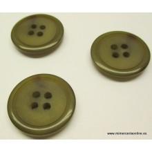 Botón verde con 4 agujeros...