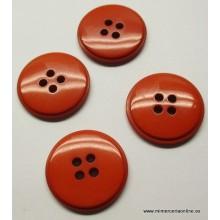 Botón rojo teja, con 4...