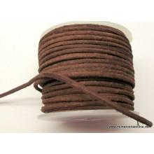Cordón cuero marrón, 2mm