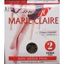 Mini media fina Marie Claire, Line 10, 17 deniers, 2 pares