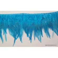 Pasamanería de plumas azul...