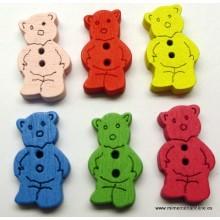 Botón oso, 20 x 12 mm