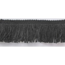 Fleco negro lana, 5,5 cm