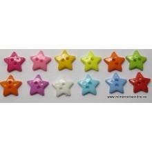 Botón forma estrella, 12 mm