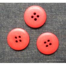 Botón rojo 4 agujeros 22 mm