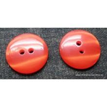 Botón rojo, tipo nacarina, 14 mm