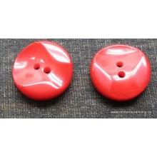 Botón rojo, con relieve, 17 mm