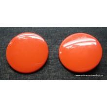 Botón rojo anaranjado,...