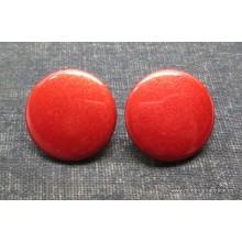 Botón rojo, liso, esmaltado...