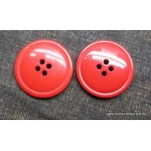 Botón rojo, liso, 4...