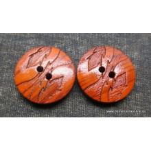 Botón marrón tipo madera,...