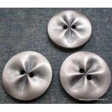 Botón metálico, grisaceo, 2...