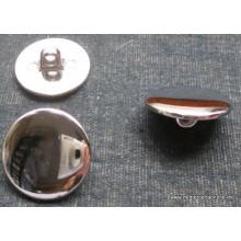 Botón redondo, plateado, 15mm