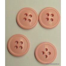 Botón rosa claro pulido 4...