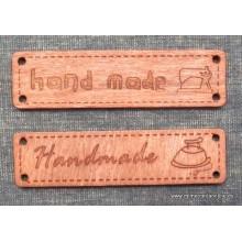 Botón tipo madera, Handmade