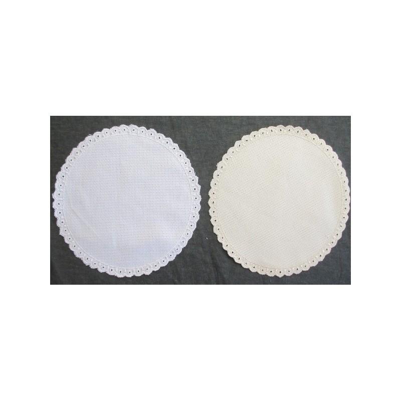 Aplique para punto de cruz, blanco o beige, grande, 19 cm