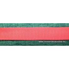 Cinta de mochila, roja 2,5 cm