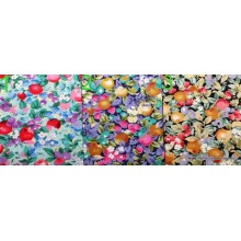 Telas de patchwork, frutas,...