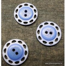 Botón azul bicolor con...