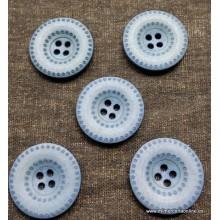 Botón azul con círculos...