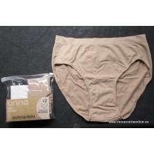 Pack 2 bragas altas UNNO, sin costuras color visón (piel)