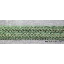 Pasamanería tipo trencilla ancha, 3cm, verde oscuro (CAJÓN 21-AB)