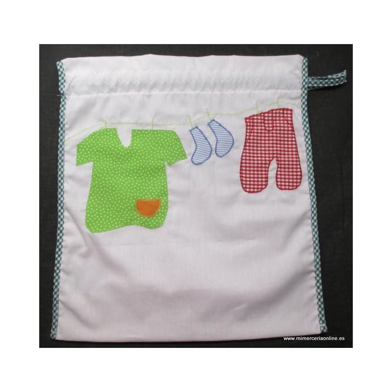 Bolsa para ropa bebé, unisex, con cierre