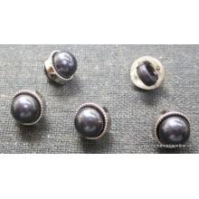 Botón forma perla azul...