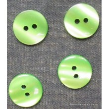 Botón verde brillo, de 2...