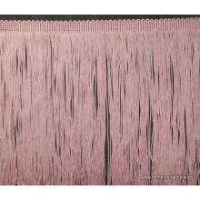 Tira de flecos color rosa...