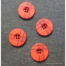 Botón rojo estampado de...