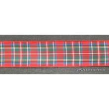 Lazo escoces fondo rojo, 40mm