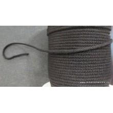 Cordón algodón 4 mm negro
