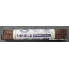Cordón plano 110 cm, marrón