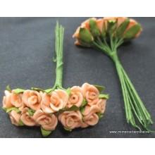 Pomo foam flor color salmón