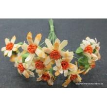 Pomo flor multicolor naranja