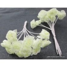 Ramillete de flores pistacho