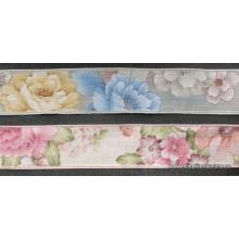 Cinta estampado de flores, 4cm. (Producto ubicado en cajón nº 3)