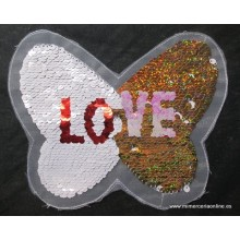 Aplique mariposa, LOVE,...