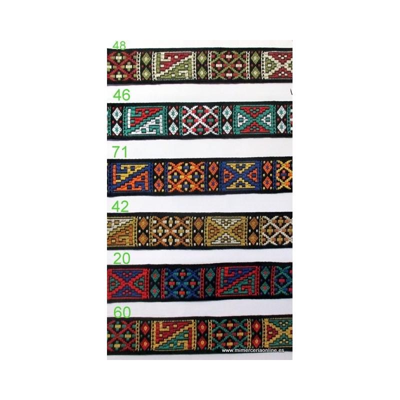 Cinta tapapuntos étnico, varios colores, 26 mm (Producto ubicado en ...