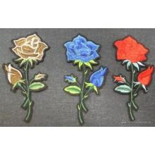 Rosas bordadas...