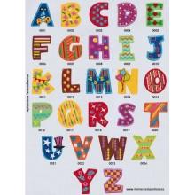 Letras infantiles bordadas,...