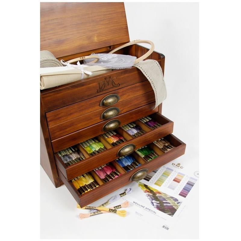 Oferta las 500 madejas de dmc y el mueble de madera de regalo for El mueble online