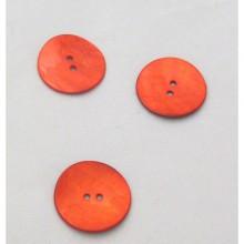 Botón rojo nácar, 28 mm