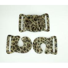 Hebilla de resina leopardo,...