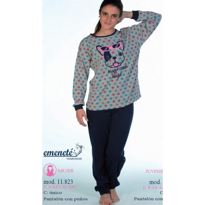 61063ec338 Pijama Emeneté perro y estrellas