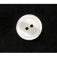Botón blanco tipo nácar, 18 mm