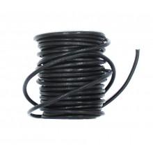 Cordón cuero negro, 2,5 mm,...