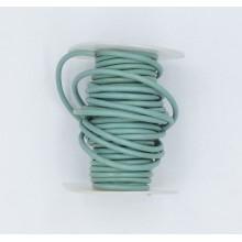Cordón cuero verde agua,...