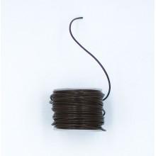 Cordón cuero marrón, 1 mm,...